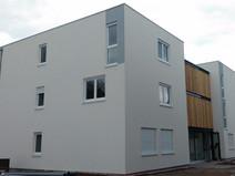 Test d'étanchéité à l'air RT2012 en logements collectifs à Staffelfelden.