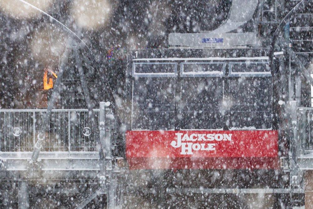 First Snow of the season Jackson Hole, Wyoming