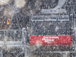 It's starting to snow early in Jackson Hole, Wyoming!