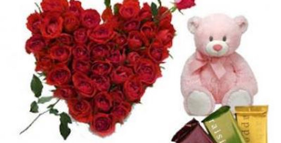Roses Heart, Teddy With Temptation