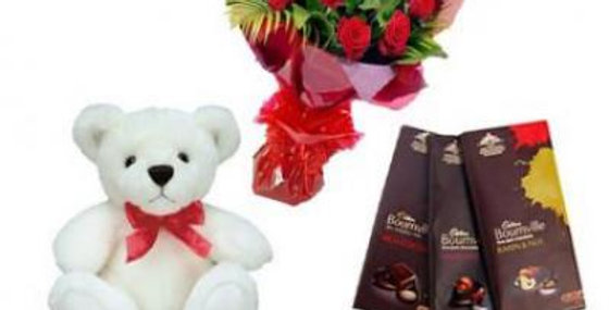 Roses, Teddy With Bournville