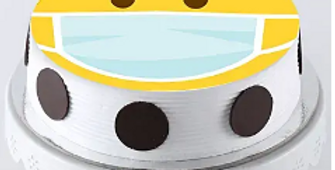 Stay Safe Emoji Pineapple Cake