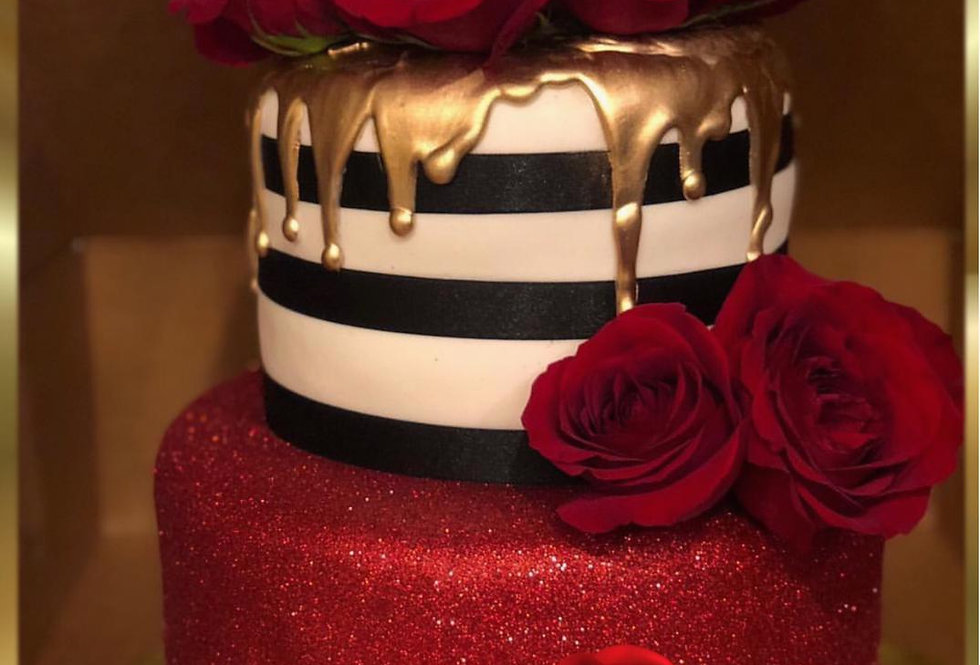 Red Gold cake