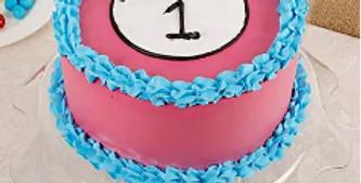 Turning One Vanille Cake Half Kg
