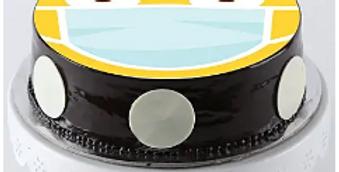 Shocked Mask Emoji Chocolate Cake