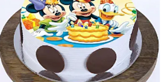 Mickey & Minnie Butterscotch Cake