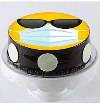 Cool Mask Emoji Chocolate Cake