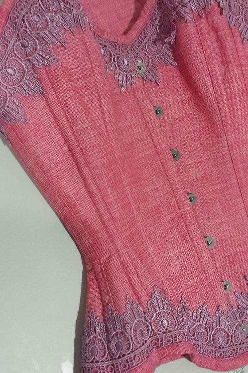 Overbust Pink estampa Juta