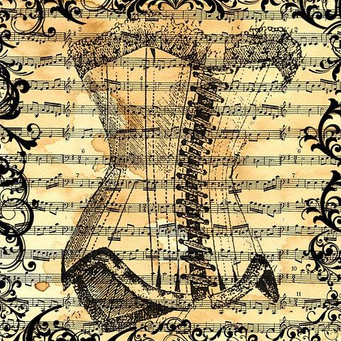 Underbust Vintage Corset & Music