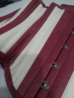Underbust Ecologic leather sand & cherry panels 18