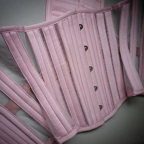 Underbust rosa clarinho em Tela de Poliester branca