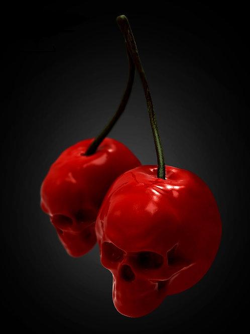 Underbust Skull Cherries
