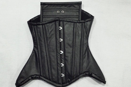 Underbust  - Black Leatherette with Hips