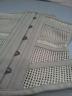 Waist Cincher horizontal  - Bege Cotton Mesh