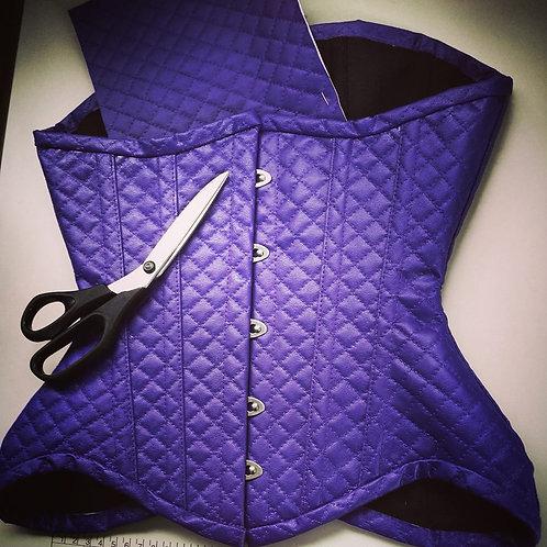 Underbust  - Leatherette Purple Matelasse