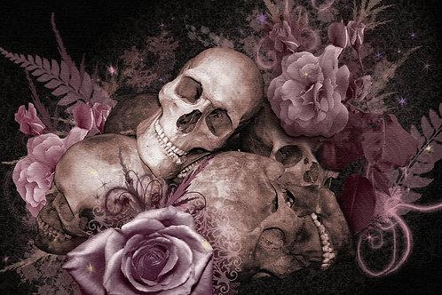 Underbust Roses and Skulls