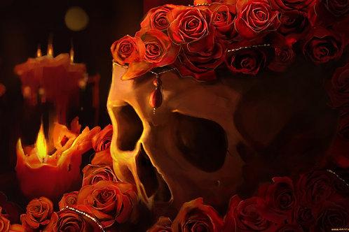 Underbust Roses & Skull