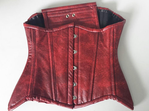 Underbust  - Leatherette cherry with hips