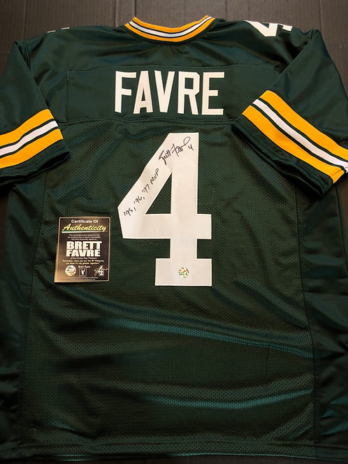 Brett Favre AUTOGRAPHED G.B. Packers Jersey