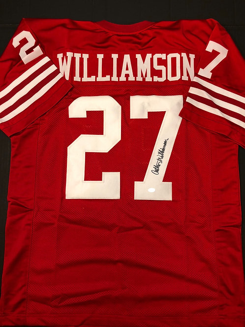 Carlton Williamson AUTOGRAPHED S.F. 49ers Jersey