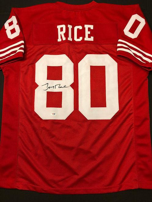 Jerry Rice AUTOGRAPHED S.F. 49ers Jersey