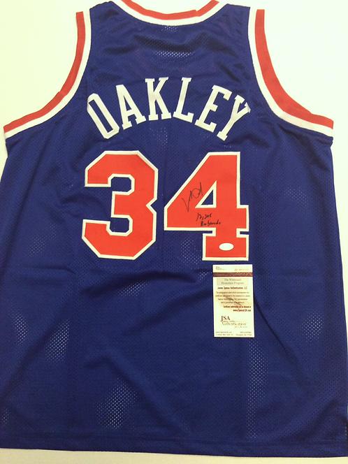 Charles Oakley AUTOGRAPHED NY Knicks Jersey