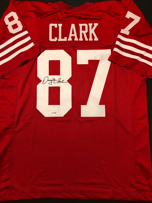 Dwight Clark AUTOPGRAPHED S.F. 49ers Jersey