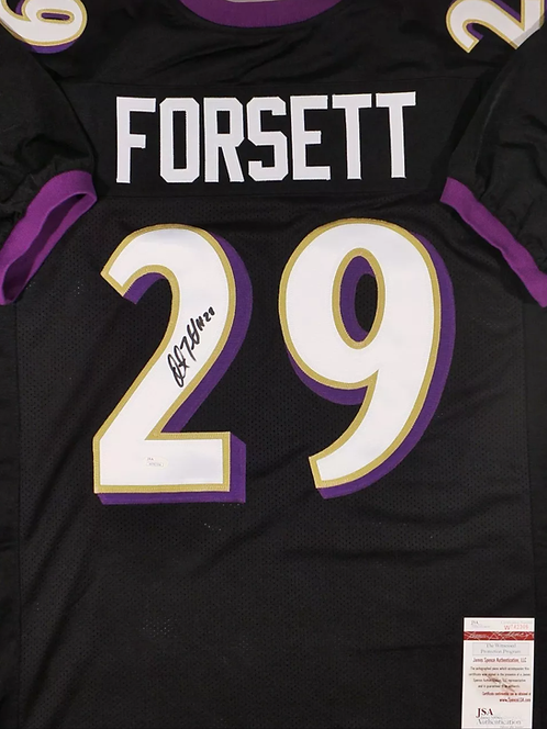 Justin Forsett AUTOGRAPHED Baltimore Ravens jersey