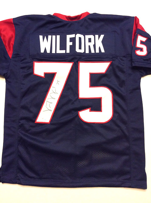 Vince Wilfork autographed Texans jersey