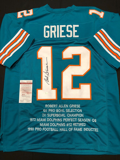 Bob Griese AUTOGRAPHED Miami Dolphins Jersey