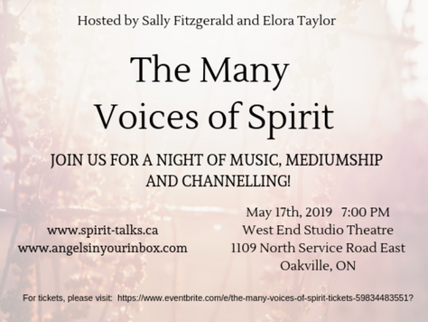 The Many Voices of Spirit - IS TONIGHT!!!!