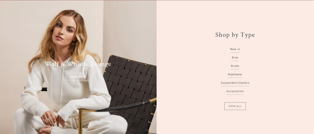 Wolf & Whistle Loungewear Campaign Site