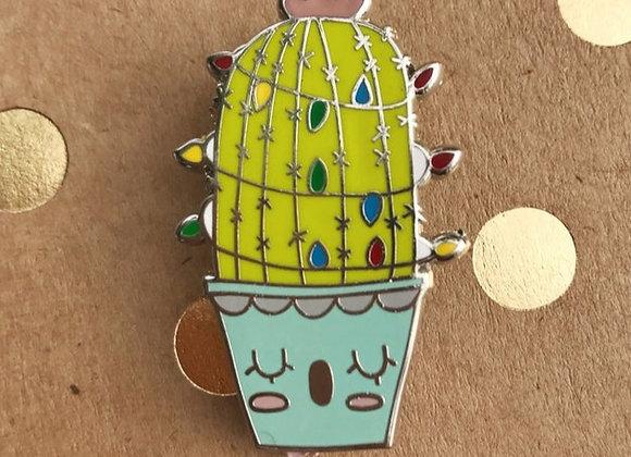 """Cute 1.5"""" Cactus Enamel Lapel Pin"""