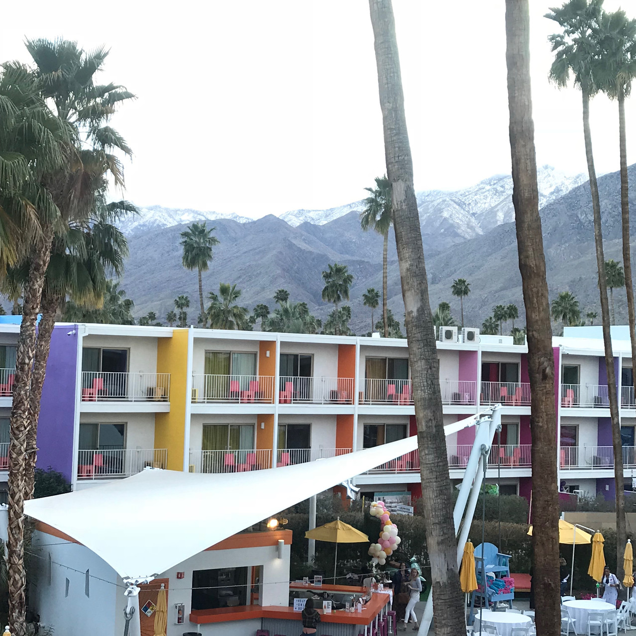My view outside my hotel room!