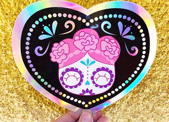 4x6 Big Sugar Skull Sticker