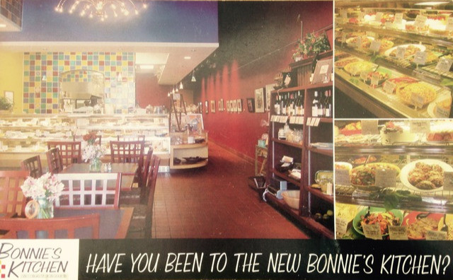 The interior of Bonnie's Kitchen was completely open, so diners could watch the food being prepared