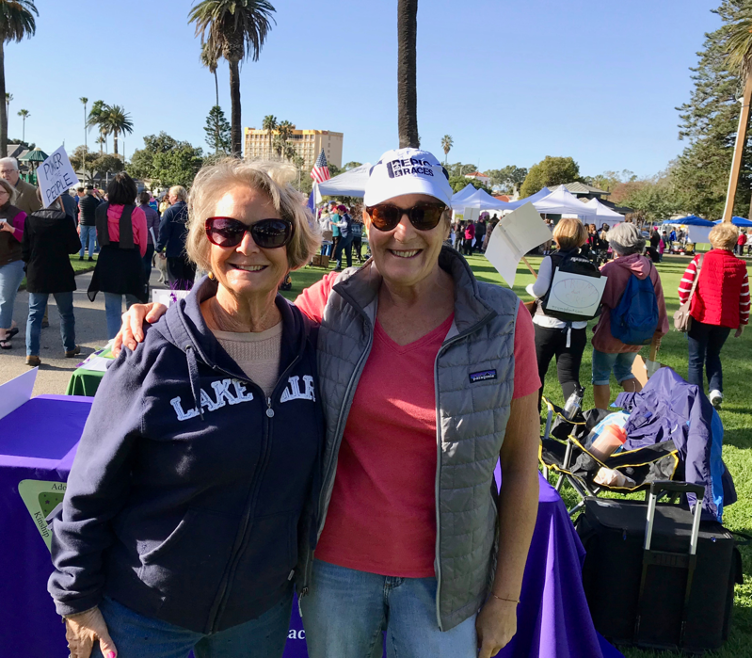 My friend, Nancy and I walk and protest together