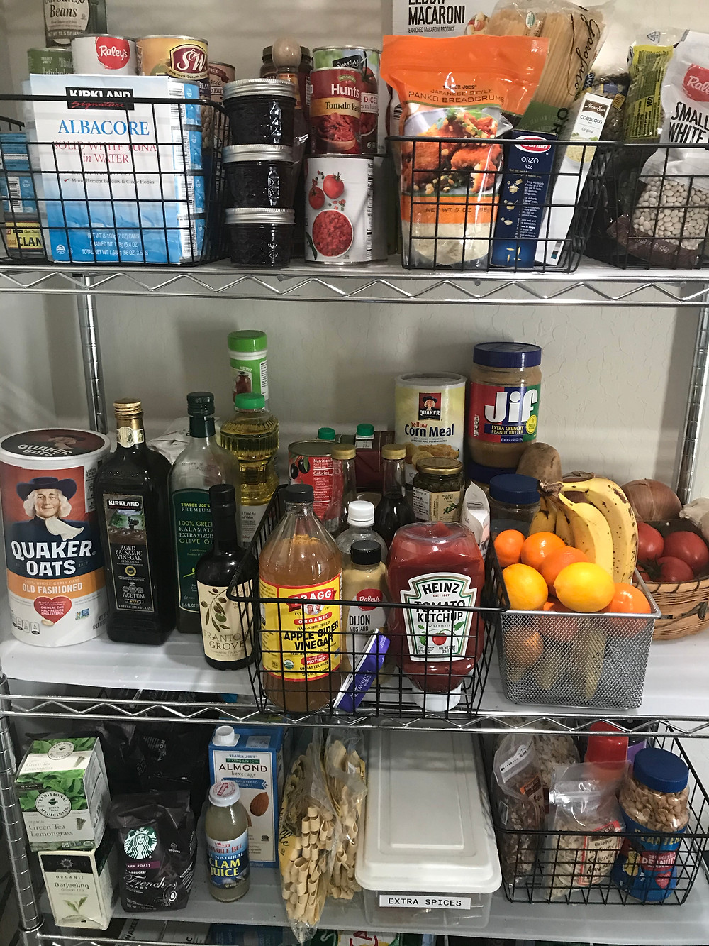 Bonnie's inventory is the quintessence of a well-stocked pantry