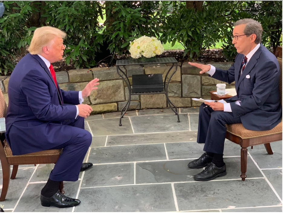 President Trump bragging about his MoCA test results during a recent interview with Fox News anchor Chris Wallace