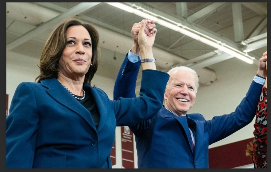 Senator Kamala Harris and Vice-President Joe Biden