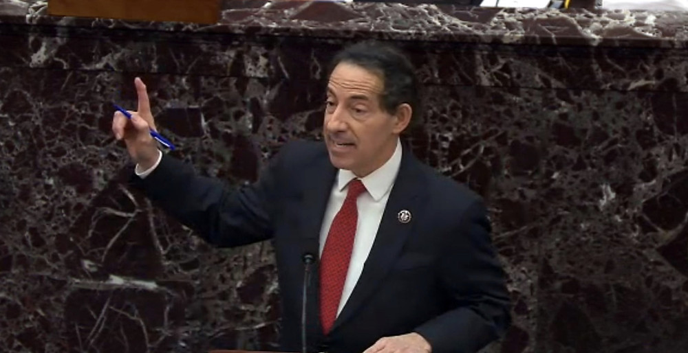 Representative Jamie Raskin fired a powerful opening salvo on the first day of the impeachment trial
