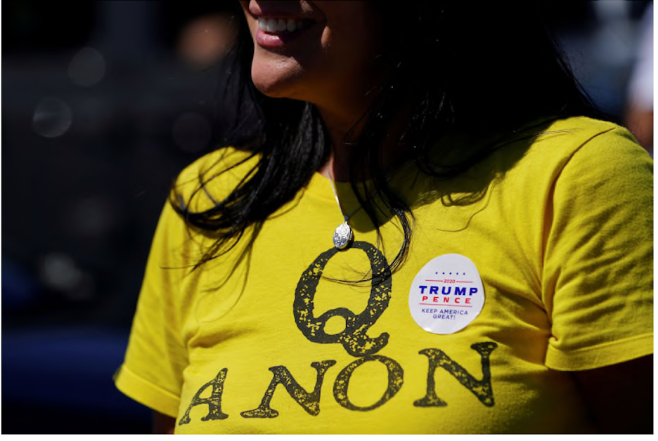 Trump still refuses to question the paranoid fantasies of QAnon followers