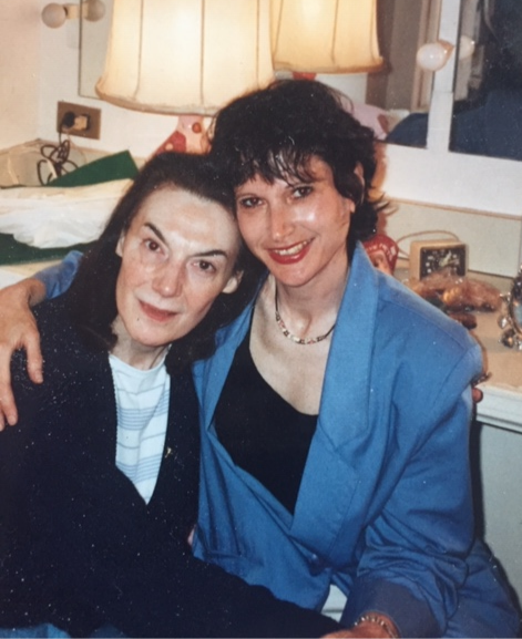 """Marian Seldes (""""Three Tall Women"""" A) and the author"""