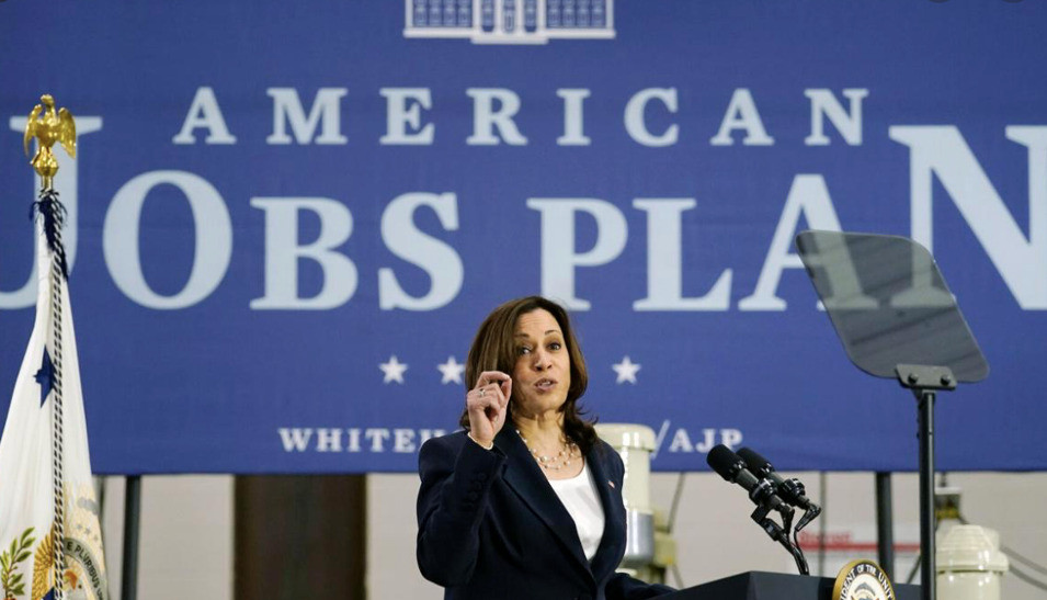 On the Road: Kamala has been crisscrossing the country in order to promote Biden's infrastructure plan