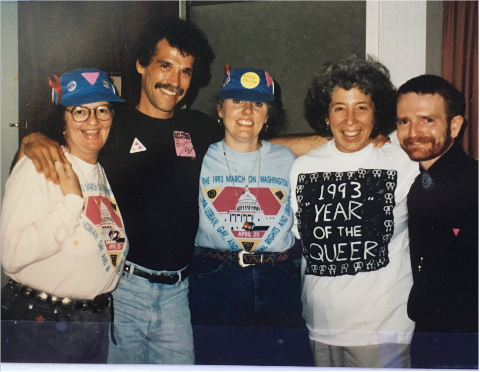 Me (fourth from left) with pals Susan, Billy, Lynda and Ken at the 1993 March