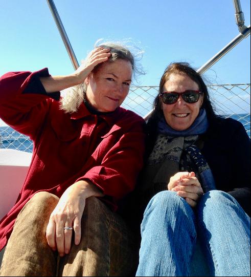 My Ventura swimming buddy, Didi, took me sailing.