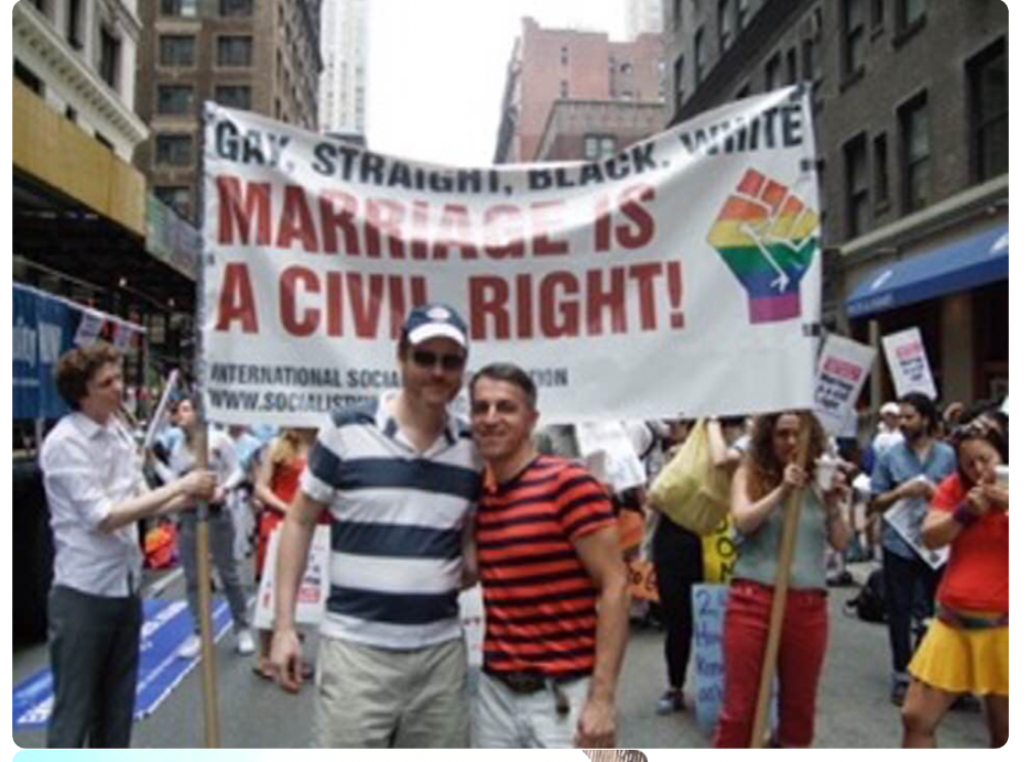 At the Gay Pride Parade in New York City in 2011