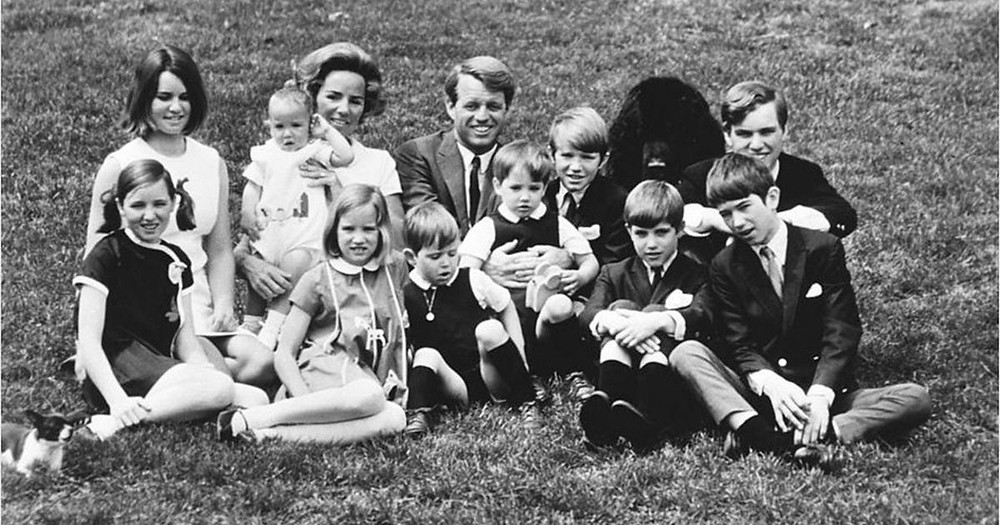 Robert Kennedy and his wife Ethel with their young children