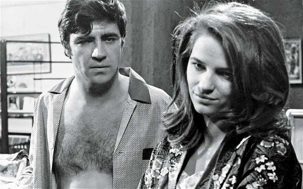 With Alan Bates in Georgy Girl (1964)