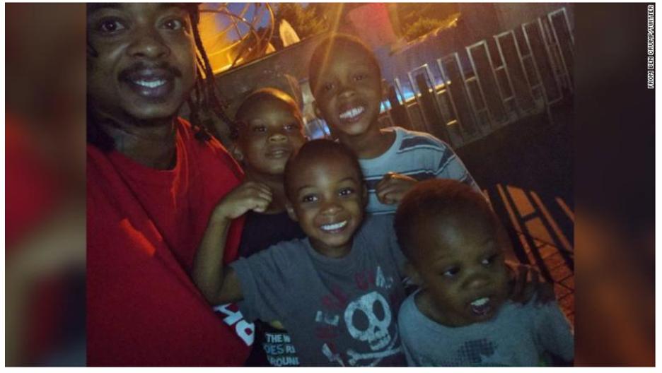 Jacob Blake with his children